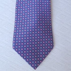 Brooks Brothers Accessories - BROOKS BROTHERS blue pink SILK STAIN Resistant tie